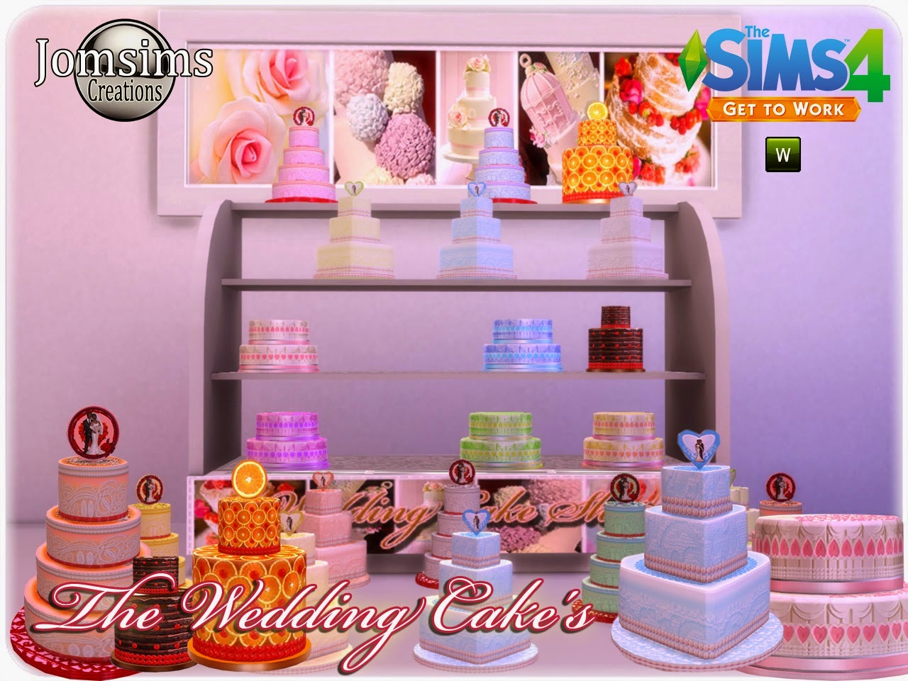 Wedding Cakes for Shops by JomSims