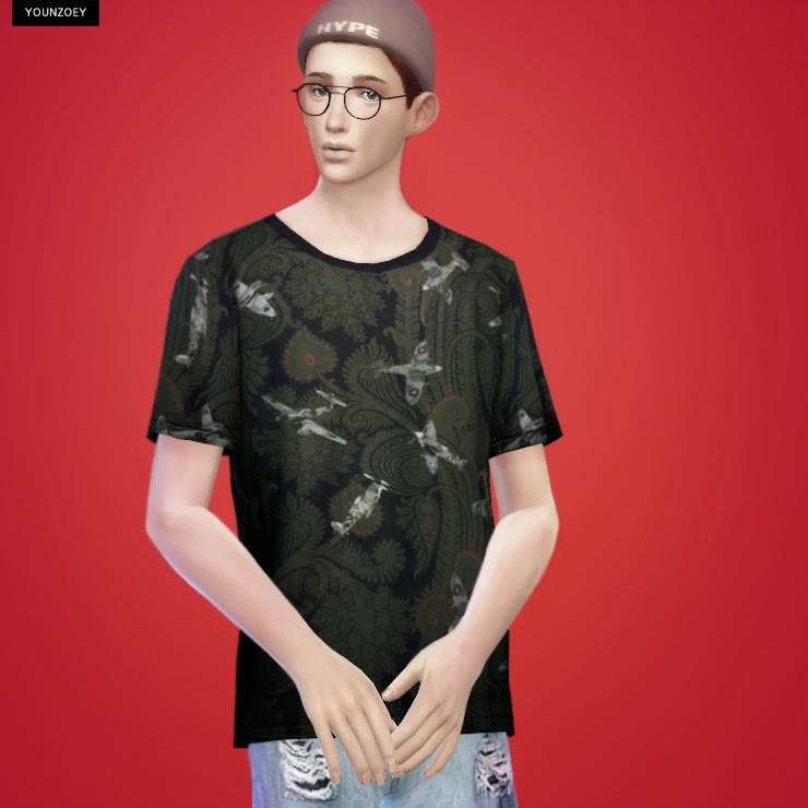 T-Shirts for Males by YoungZoey