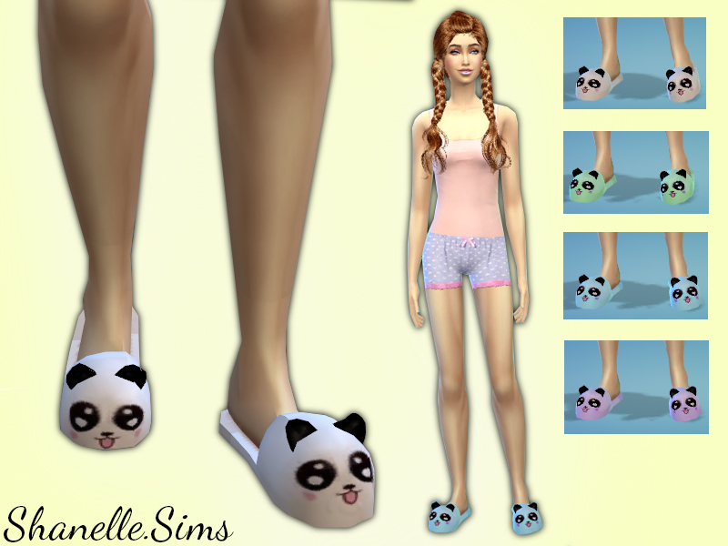 Panda Slippers by ShanelleSims