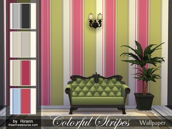 Colorful Stripes Wallpaper by Rirann