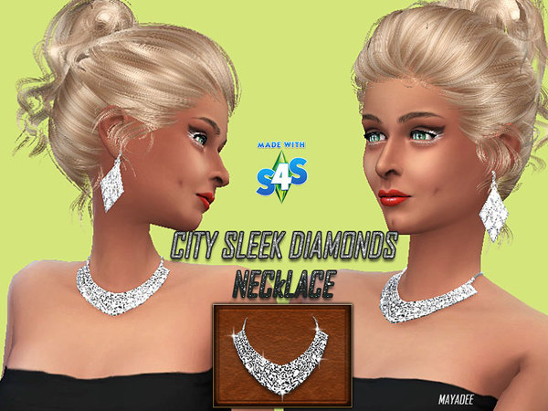 City Sleek Diamonds Necklace by mayadee