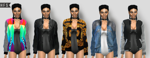 Bomber Jacket Collection by Hautfashionsims4