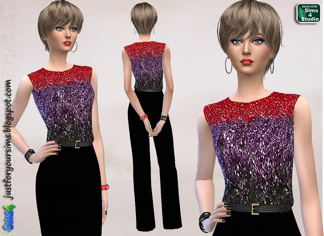 Embroidered Jumpsuit by Just For Your Sims