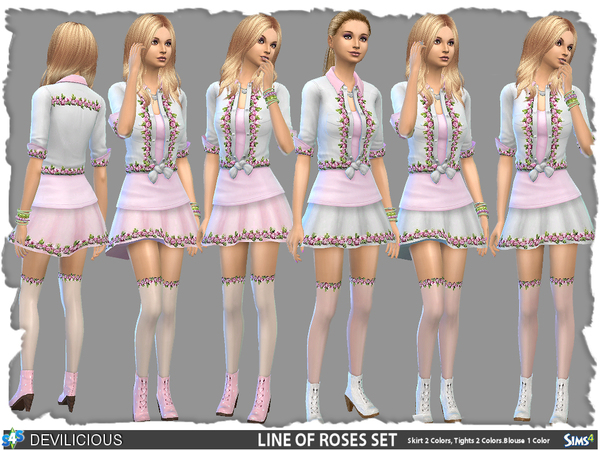 Line Of Roses Set (Teens, Adults) by Devilicious