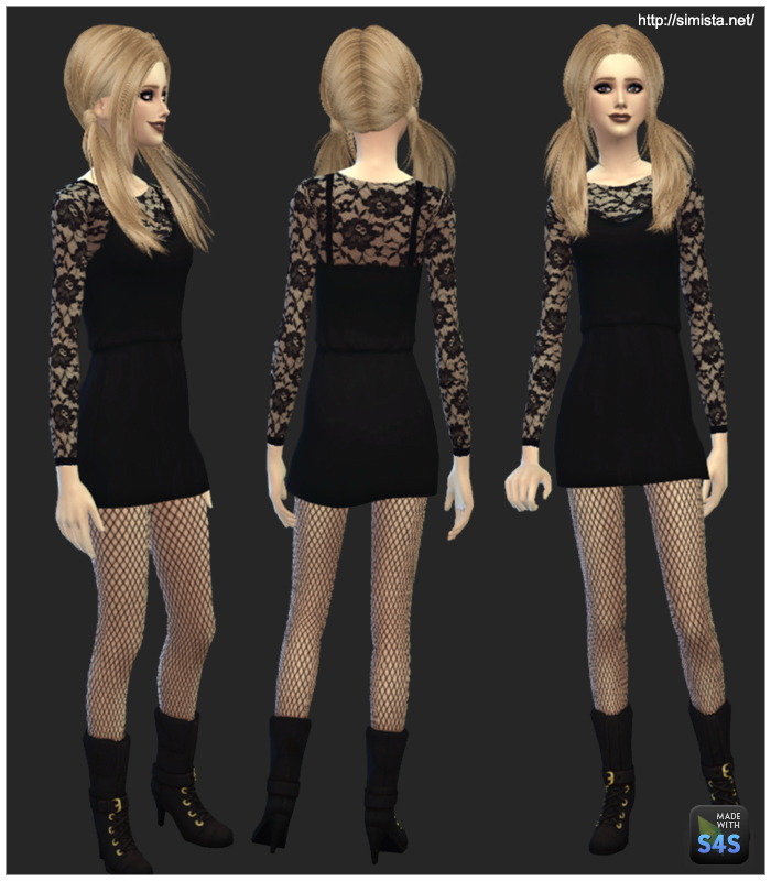Little Black Cocktail Dress for Teen - Elder Females by Mr S