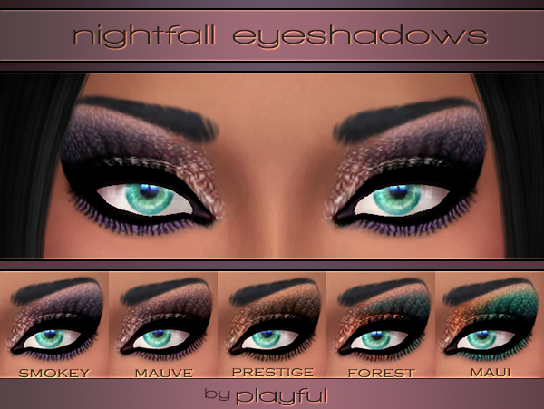 Nightfall Eyeshadows by Playfuls Studio