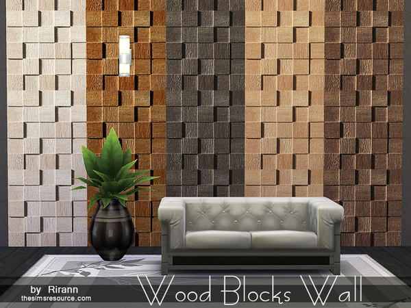 Wood Blocks Wall by Rirann