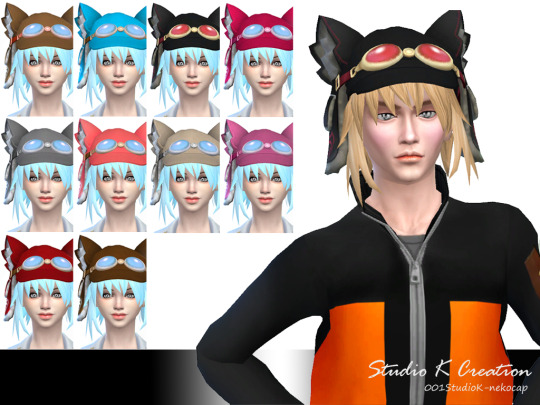 Nekomeme-Cap for Males and Females by Karzalee
