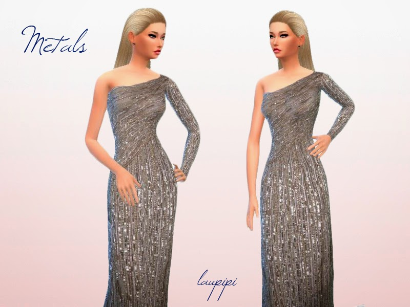 Shiny Metals Dress by Laupipi