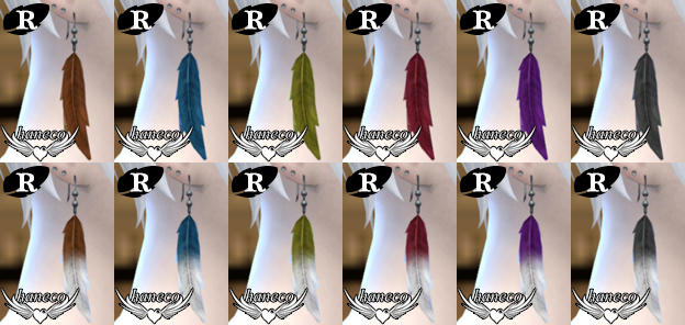 Feather Earrings for Males by Haneco
