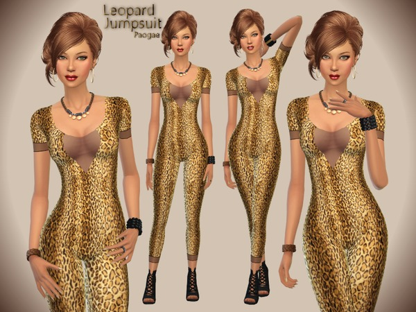 Leopard Jumpsuit by Paogae