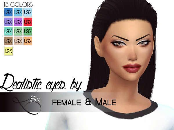 Realistic eyes [ Female & Male ] by LSX