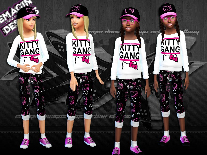 Girls Hello Kitty Gang Outfit w/Shoes,Cap BY emagin360