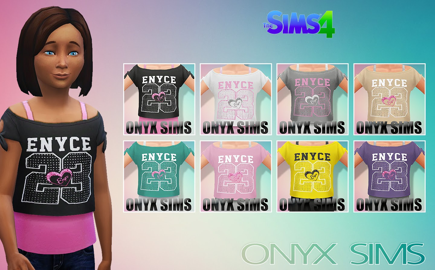 CF Enyce Top by Onyx Sims