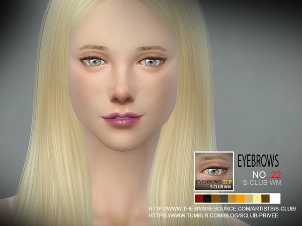 S-Club WM thesims4 Eyebrows22 F