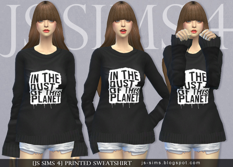 Printed Sweatshirt (female) by JS Sims 4