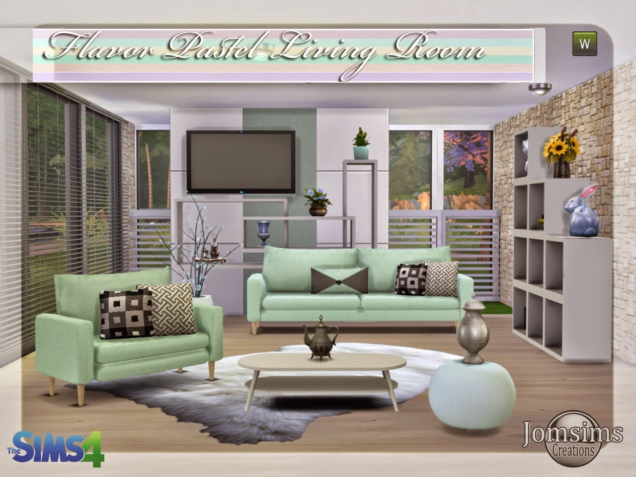 Pastel Living Set by JomSims