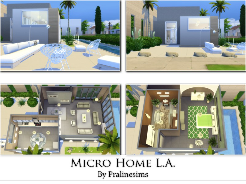 Micro Home L.A.by Pralinesims
