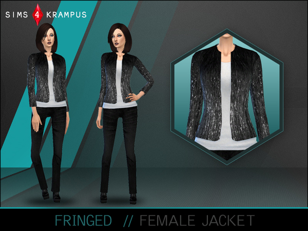 Fringed Jacket by SIms4Krampus