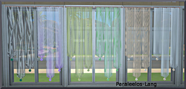 Sims Marktplatz  Objects, Decor : Easter Egg curtains by Christine1000