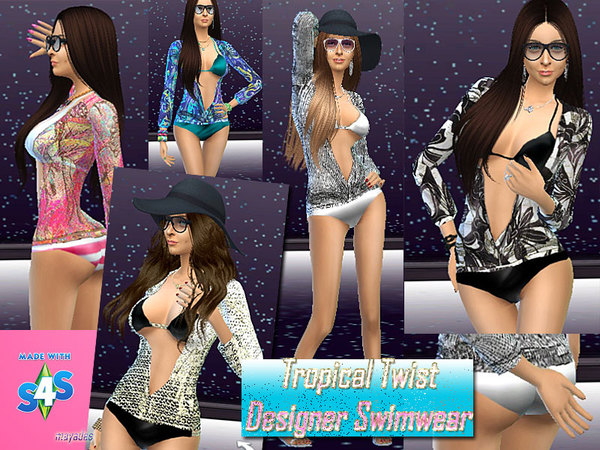 Tropical Twist Designer Swimwear by mayadee