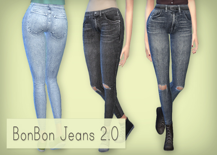BonBon Jeans 2.0 for Females by Simsrocuted