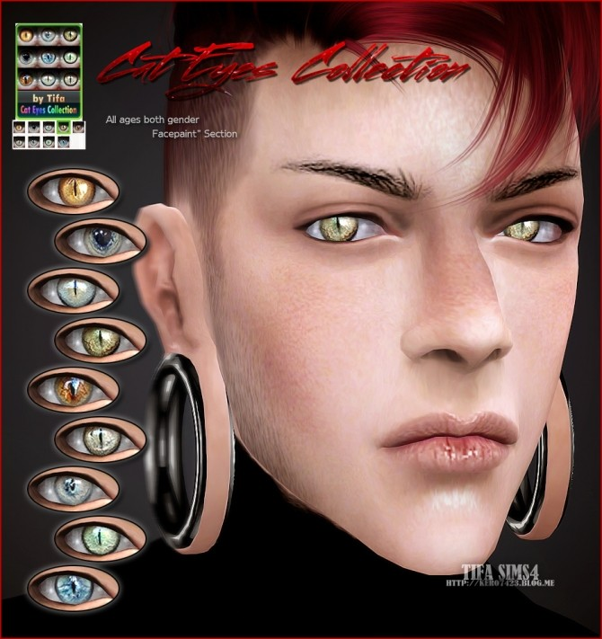 Tifa Sims  Eyes : Cat eyes colection