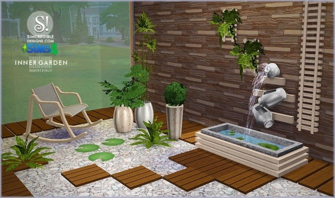 SIMcredible! Designs 4  Furniture, Outdoor : Inner garden outdoor set