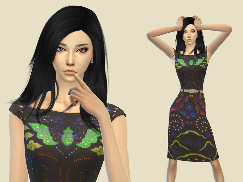 [SIMSTAILORED] Indonesian Batik Dress BY Simstailored