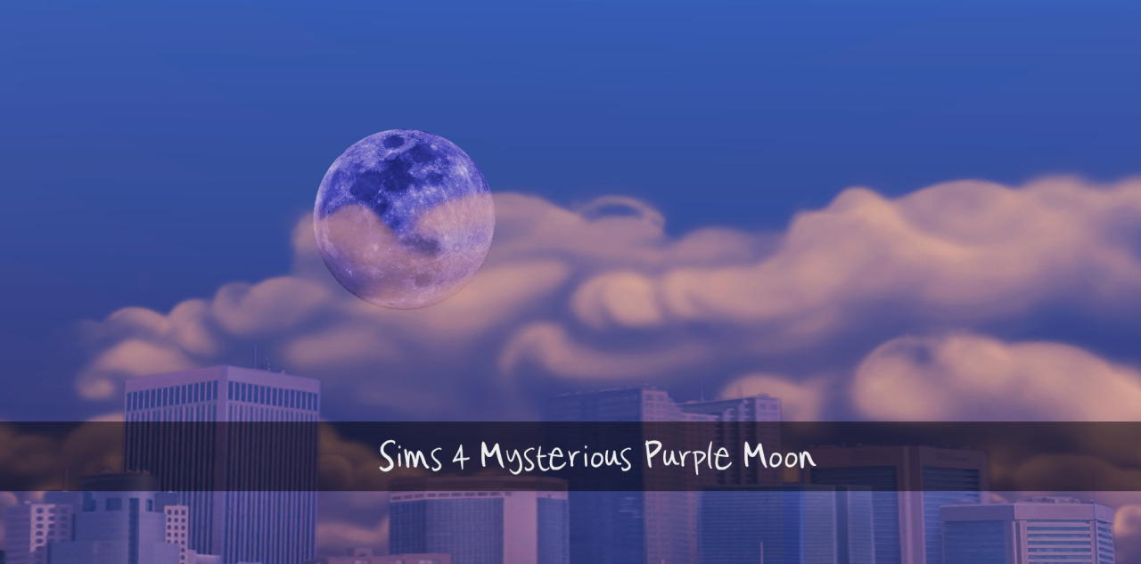 Mysterious Purple Moon by Sims4Downloads