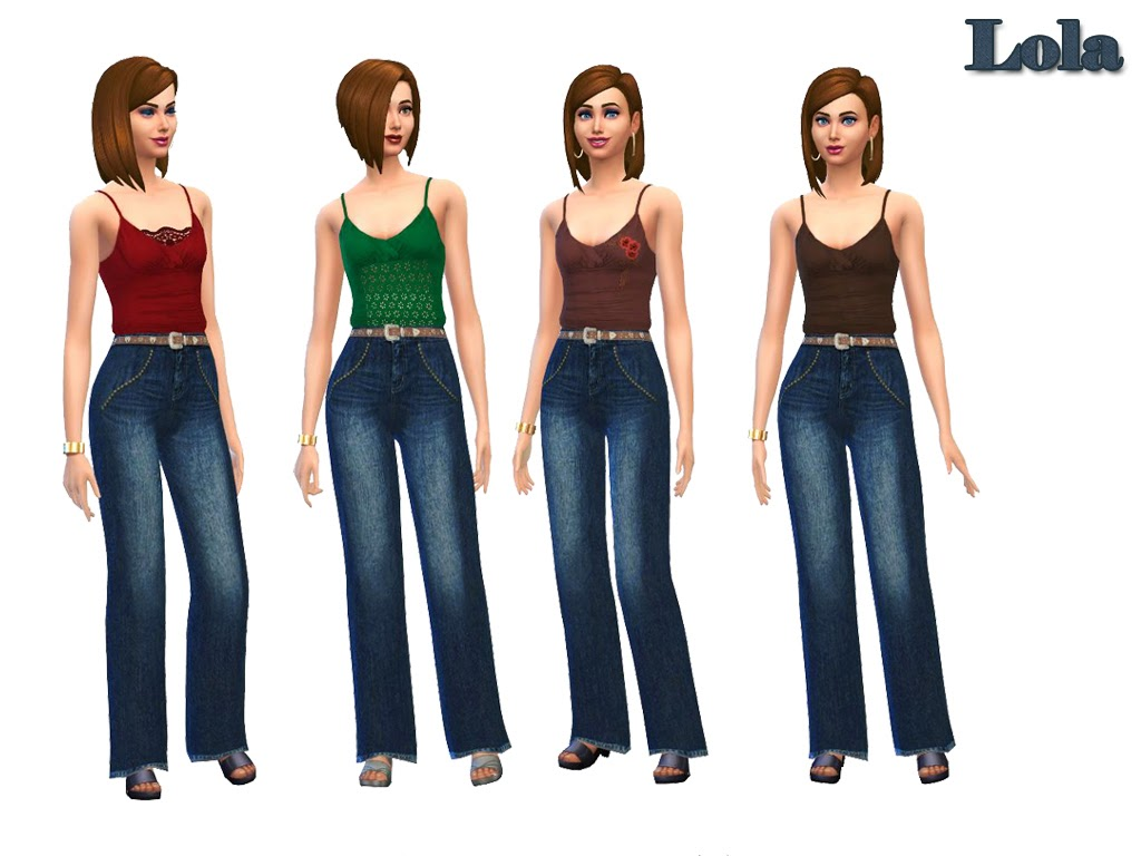 Jeans and Tanks Set for Females by Lola