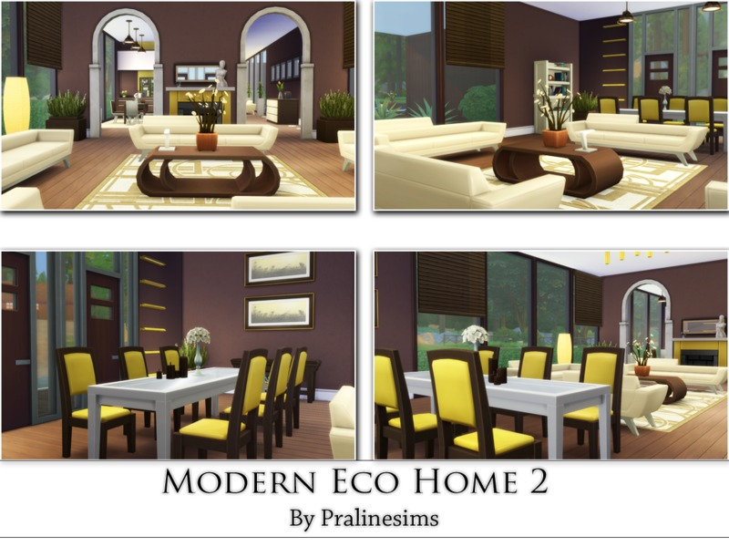 Modern Eco Home 2 BY Pralinesims