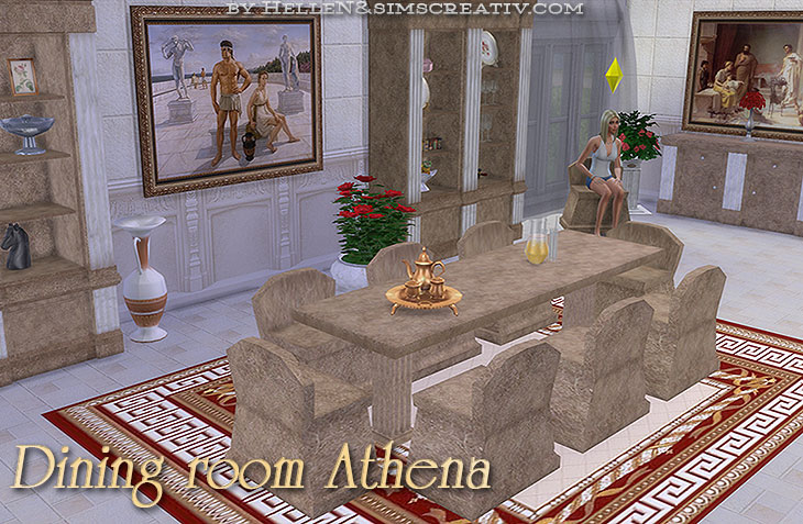 Dining room Athena by HelleN
