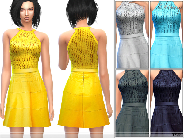 Fit & Flare Halter Dress by ekinege