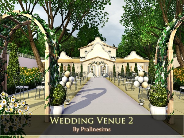 Wedding Venue 2 by Pralinesims