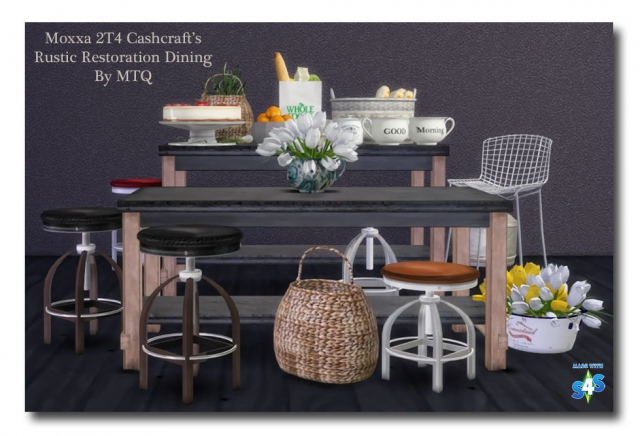TS2 To TS4 - Moxxas Cashcraft Rustic Restoration Dining by MsTeaQueen