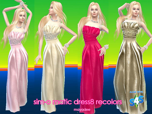 simomatic dress8 recolors by mayadee