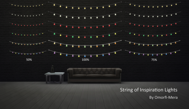 TS3 String of Inspiration Lights by OmorfiMera