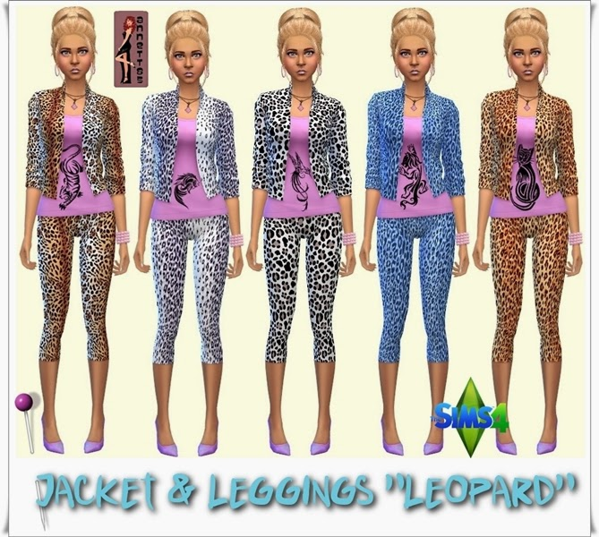 "Jacket & Leggings ""Leopard"" by Annett85"