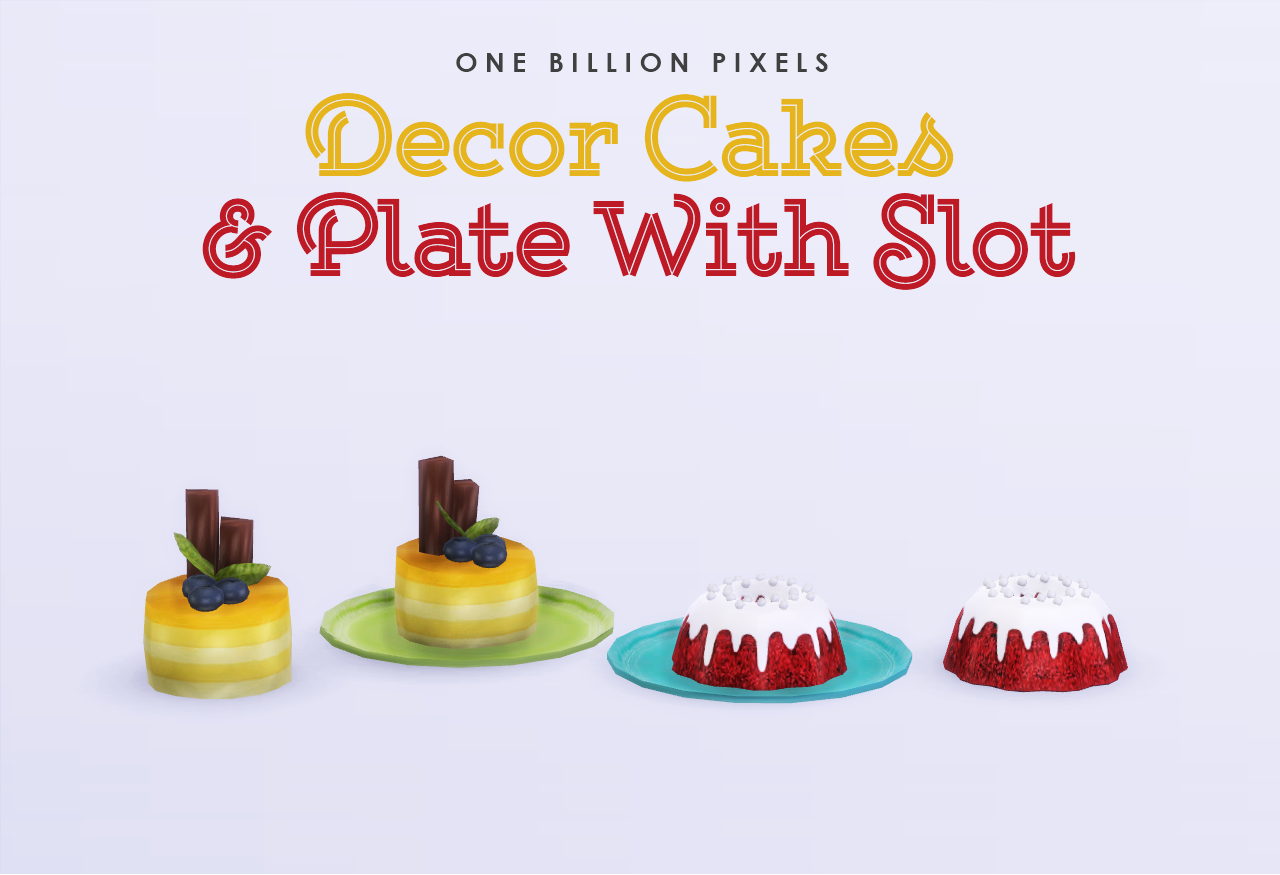 Decor Cakes & Plates with Slot by NewOne