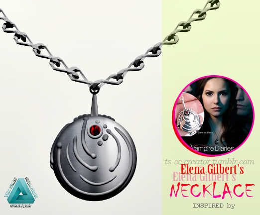 ELENA GILBERTS NECKLACE (Vervain Necklace) by ts-cc-creator
