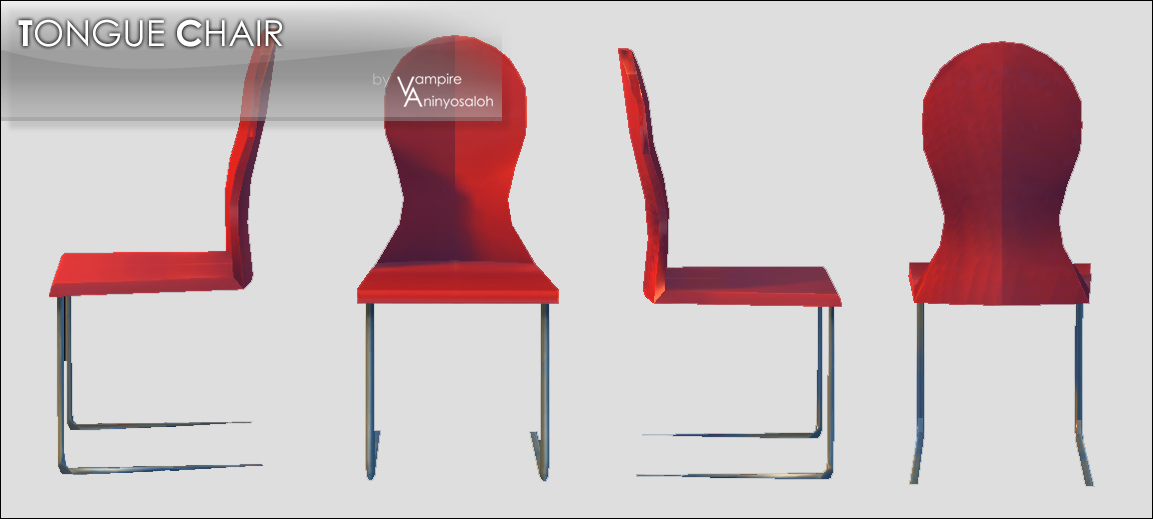Tongue Chair -NEW MESH/10 colors- by Vampire_aninyosaloh
