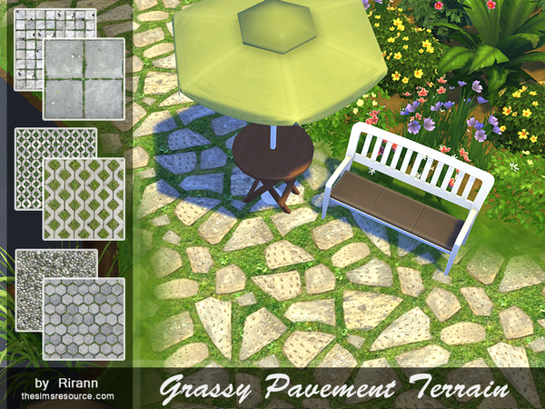 Grassy Pavement Terrain Paints by Rirann