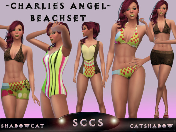 Charlies Angel Beach-Set by Shadowcat Catshadow