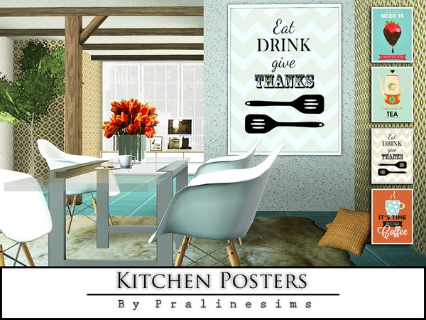 Kitchen Posters by Pralinesims
