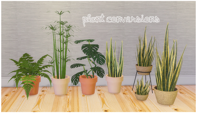 7 plant conversions by LinaCherie