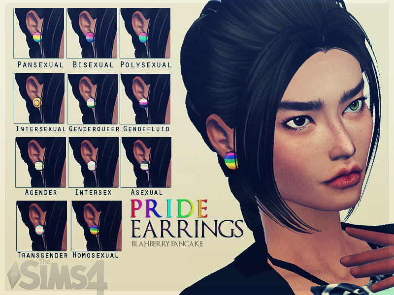 Pride flags earrings BY Blahberry Pancake