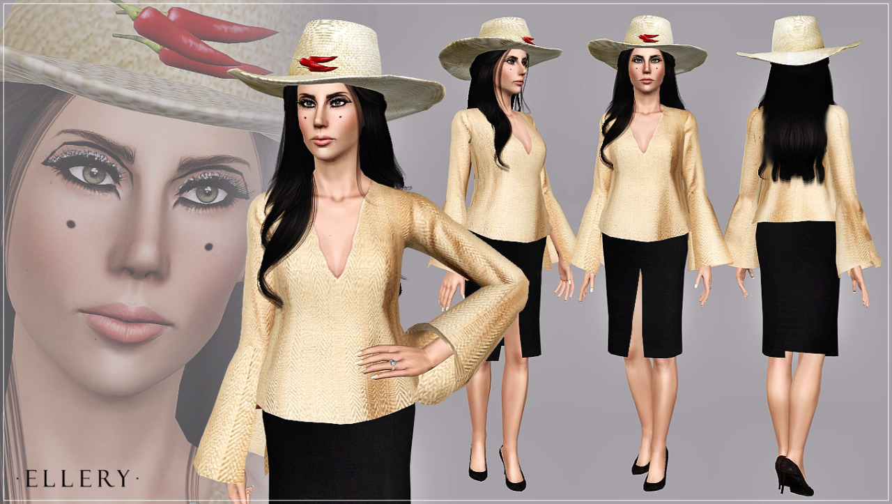 Instastyle skirt, top and hat by ArtSims
