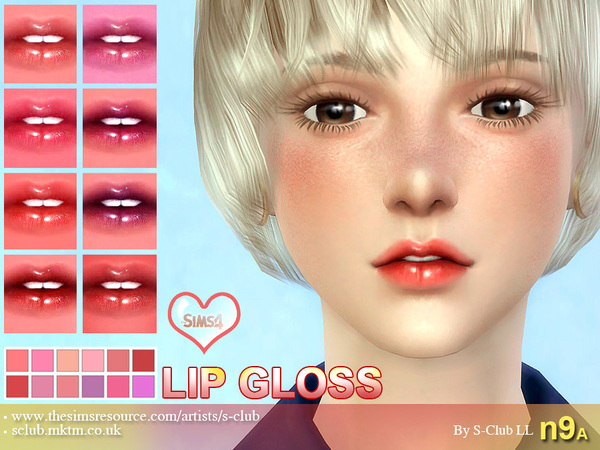 S-Club LL thesims4 Lipstick F09