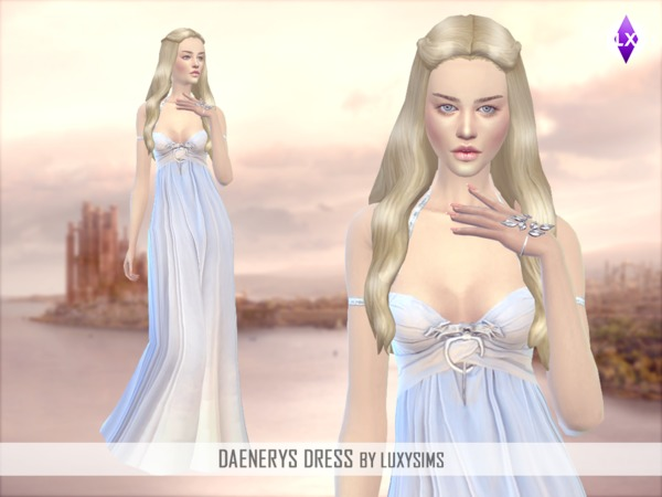 Daenerys Targaryen Dress by LuxySims3